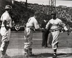 Jackie Robinson, Montreal at Jersey City, Opening Day 1946