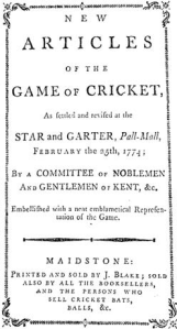 """""""How Is It, Umpire?"""" The 1744 Laws of Cricket and Their ..."""