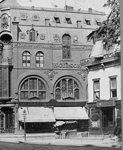 Collier's Saloon (right) where NA formed March 17, 1871.
