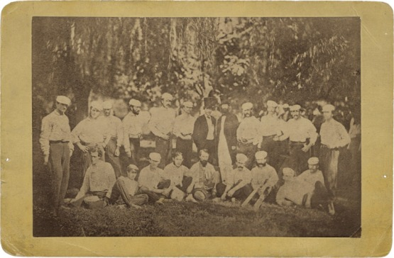 Excelsiors and Nationals at the White Lot, 1866