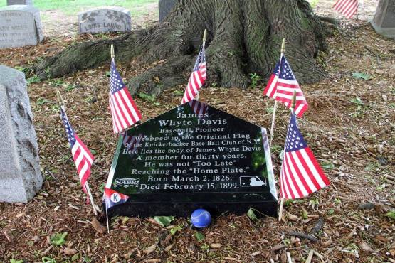 James Whyte Davis's Grave — at Green-Wood Cemetery. Photo by Roger Ratzenberger.