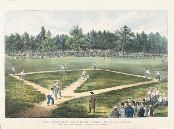 The American National Game of Base Ball, Currier and Ives, 1866.