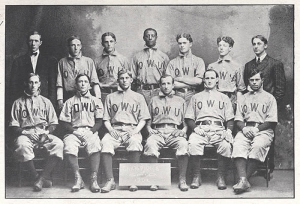 1905 Ohio Wesleyan University; Rickey (back row, right).