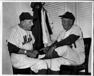 Casey Stengel (left), 1963.