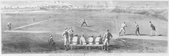 June 14, 1870, Reds vs Atlantics; Harper's Weekly