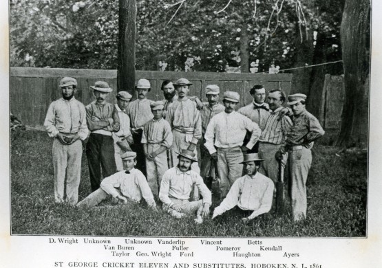 St. George Cricket Club, 1861, with George Wright at 14