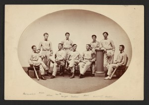 First baseball club, 1866; Harvard University Archives, call # HUPSF Baseball (2).