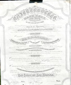"""Nestor of Ball Players"" document presented to Adams by the KBBC; facsimile"