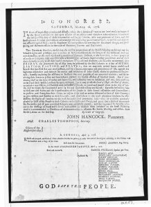 Fast Day Proclamation March 16, 1776