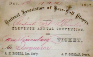 National Association Convention of 1867, ticket