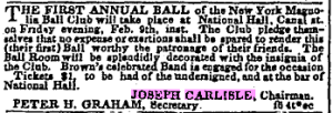 Feb 8, 1844, Herald, First Annual Ball