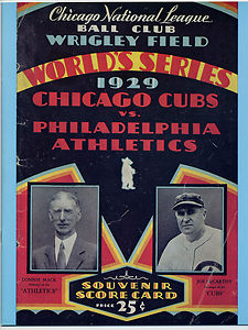 929 World Series Scorecard