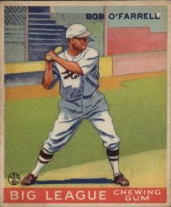 Bob O'Farrell Goudey card