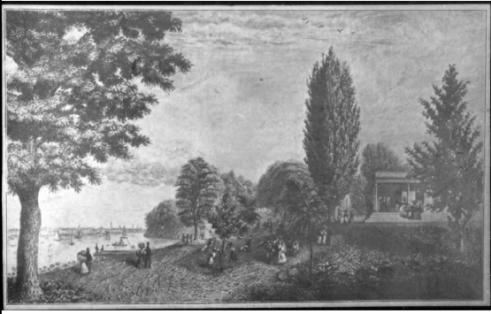 Colonnade Hotel (Stevens Famly Pavilion) in 1830s