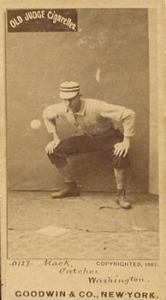 Connie Mack Old Judge card 1887