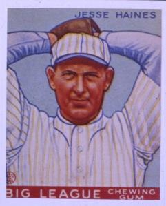 Jesse Haines Goudey card