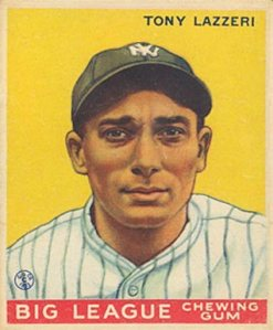 Tony Lazzeri Goudey card