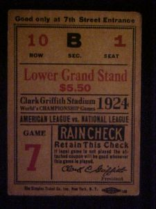 1924 World Series, Game 7