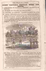 Ad for Robin Carver's Book of Sports 1834