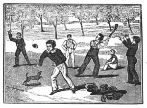 Baseball 1833, possibly wicket