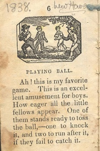 Chapbook 1838, Playing Ball