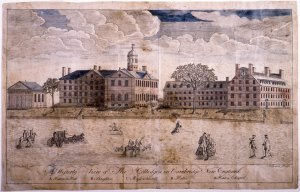 Harvard Square 1767 by Paul Revere