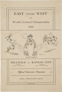 1924 World's Colored Championship Official Program
