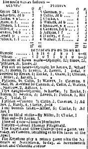 Olympic vs Pythian, Sept 4, 1869