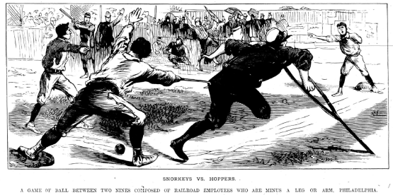 Snorkeys vs Hoppers, Police Gazette, October 29, 1887
