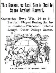 Harvard and Brown Play Push Ball, October 20, 1895