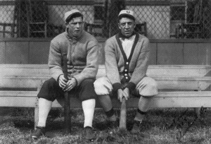 Walsh (left) and Addie Joss 1908