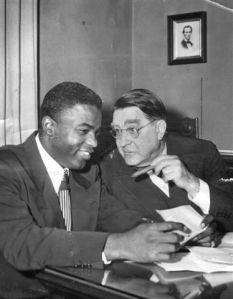 Branch Rickey with Jackie Robinson