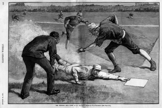 Ewing's Famous Slide, as depicted in Harper's Weekly
