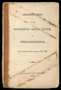 Olympics of Philadelphia, 1837 Constitution