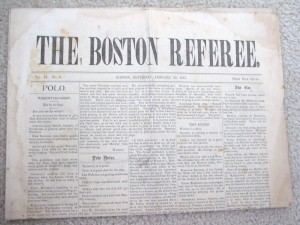 The rare Boston Referee, 1887