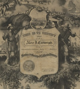 Cartwright, Pioneers Life Membership, 1875