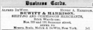 DeWitt and Harrison, Daily Alta, January 15, 1853