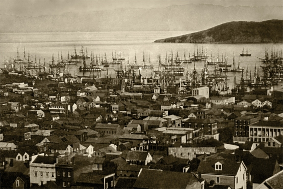 Looking Toward Portsmouth Square (a.k.a. the Plaza), San Francisco 1851