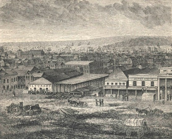 Portsmouth Square ca.1855, East Side