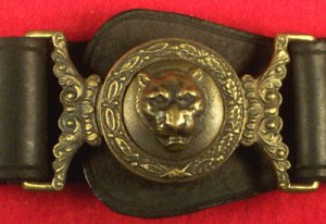 Tiger Base Ball Club, belt plate