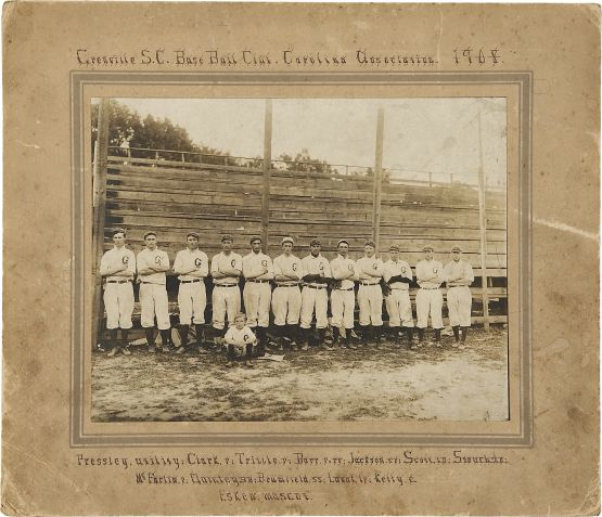 Joe Jackson with Greenville 1908