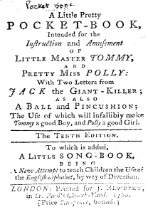 Little Pretty Pocket-Book, 10th Edition, 1760