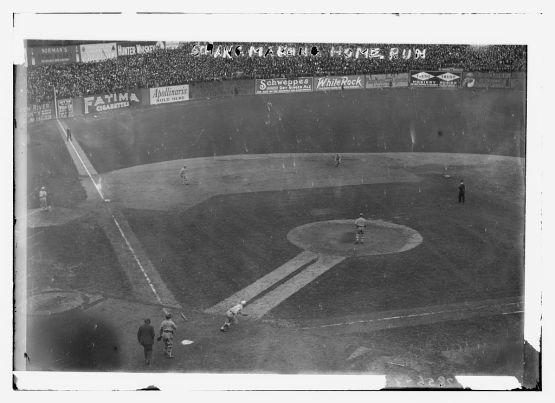 Wally Schang home run, Game 1 of 1913 World Series.