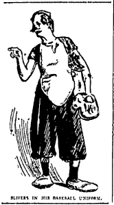 Slivers in His Baseball Uniform, Kansas City Star, 1908