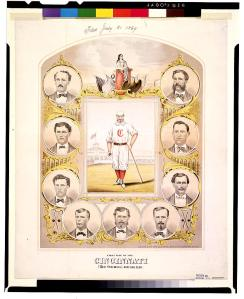 First Nine of the Cincinnati Red Stockings