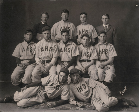 Abilene, Kansas, High School, 1909. That's Ike, second from the right in the top row.