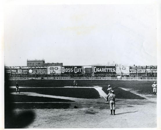 Polo Grounds, Opening Day 1886--same appearance as for Grant in 1883.