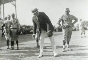 Harding with Cubs, Sept. 2, 1920