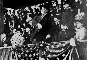 Taft throws out the first first pitch, April 14, 1910.