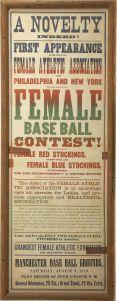 1879 Female Baseball Broadside